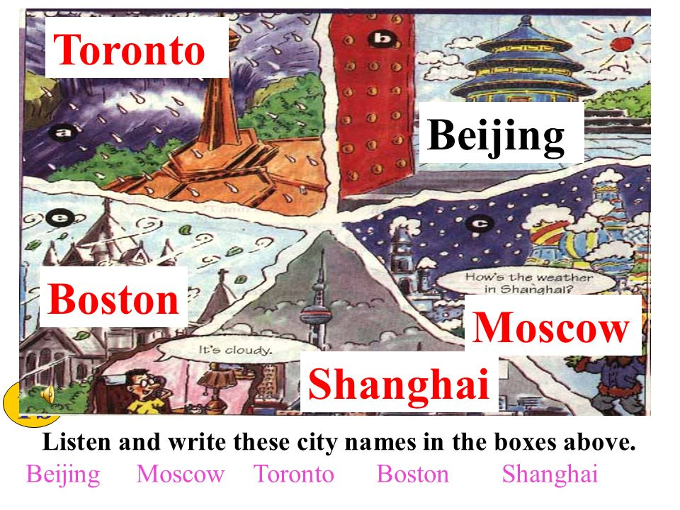 Unit 6 Its raining .Match the words with the pictures.