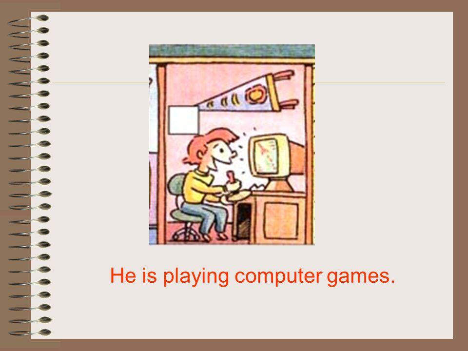 He is playing basketball.