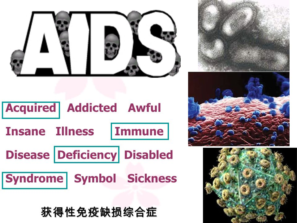 What is AIDS? The full form of it is Acquired Immune Deficiency Syndrome( ). It is a serious disease. incurable disease