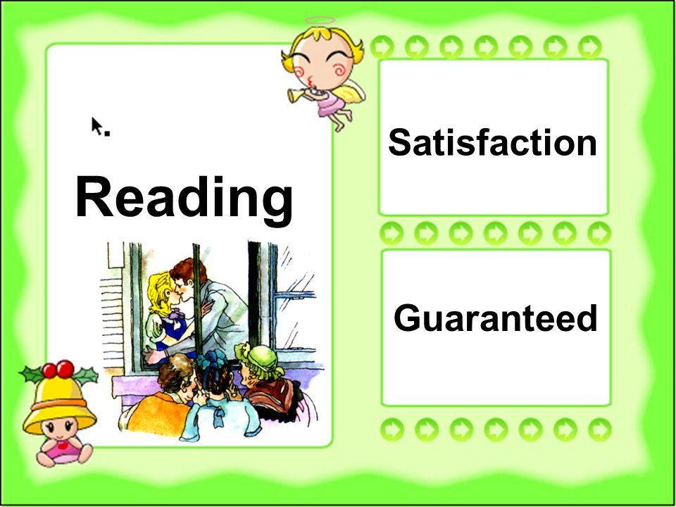 18 Reading Satisfaction Guaranteed