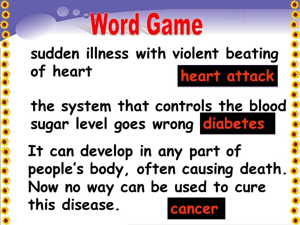 Part A Karen is studying an entry about diseases in the childrens encyclopedia Read the entry with her and help Karen choose correct words to fill in the sentences in Part C (1-6).