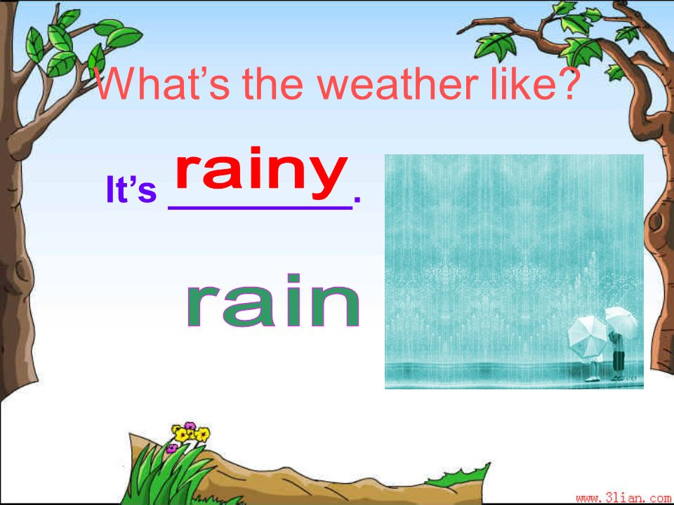 Whats the weather like? Its _________.
