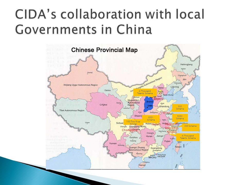 Tianjin HangzhouWuhan 530 Scheme Wuxi 5050 Scheme A Thousand Talents Scheme 3551 Scheme Shaoxing 330 Scheme Ningbo A Thousand Talents Scheme 100 Two R
