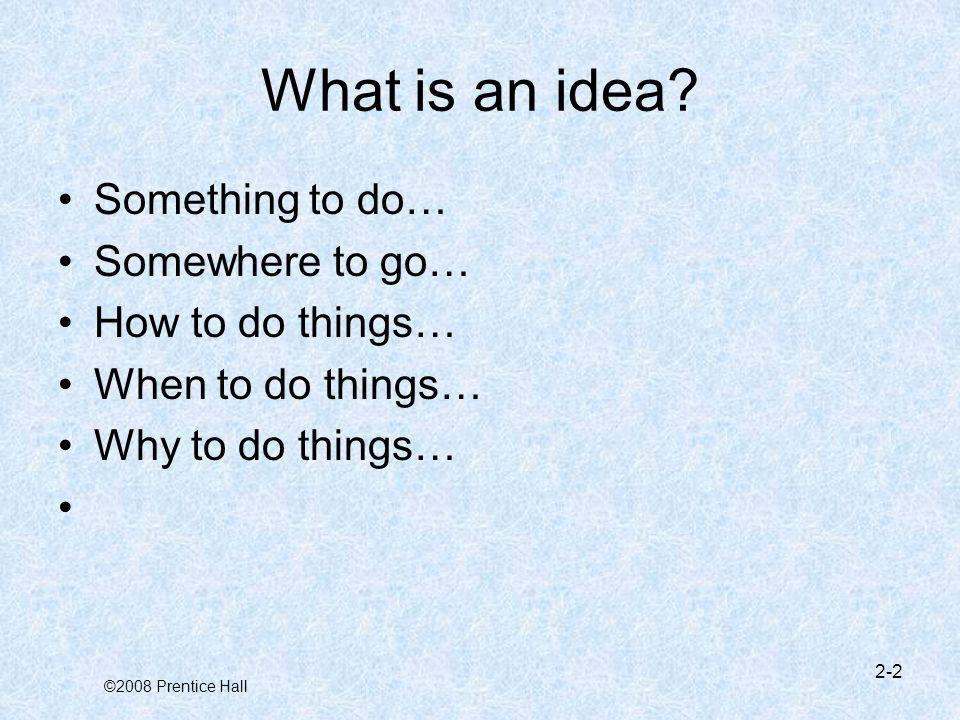 ©2008 Prentice Hall What is a business idea.