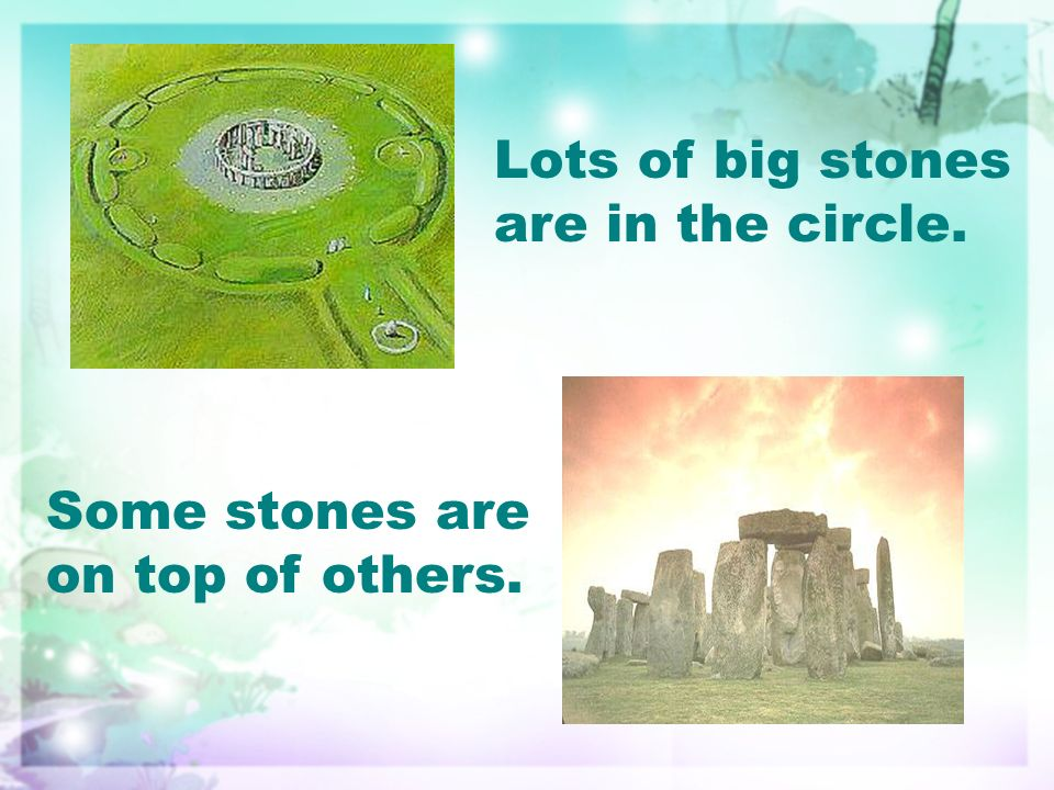 Lots of big stones are in the circle. Some stones are on top of others.