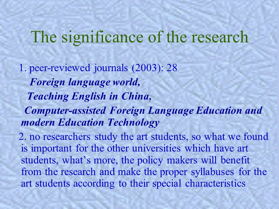 Research Questions 1) Dose the new teaching model really improve the students autonomous learning and competence in learning English.
