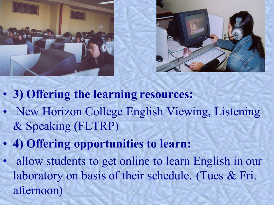 5) Tutoring in a small class: face-to face communication in a small class is offered after two weeks online learning.