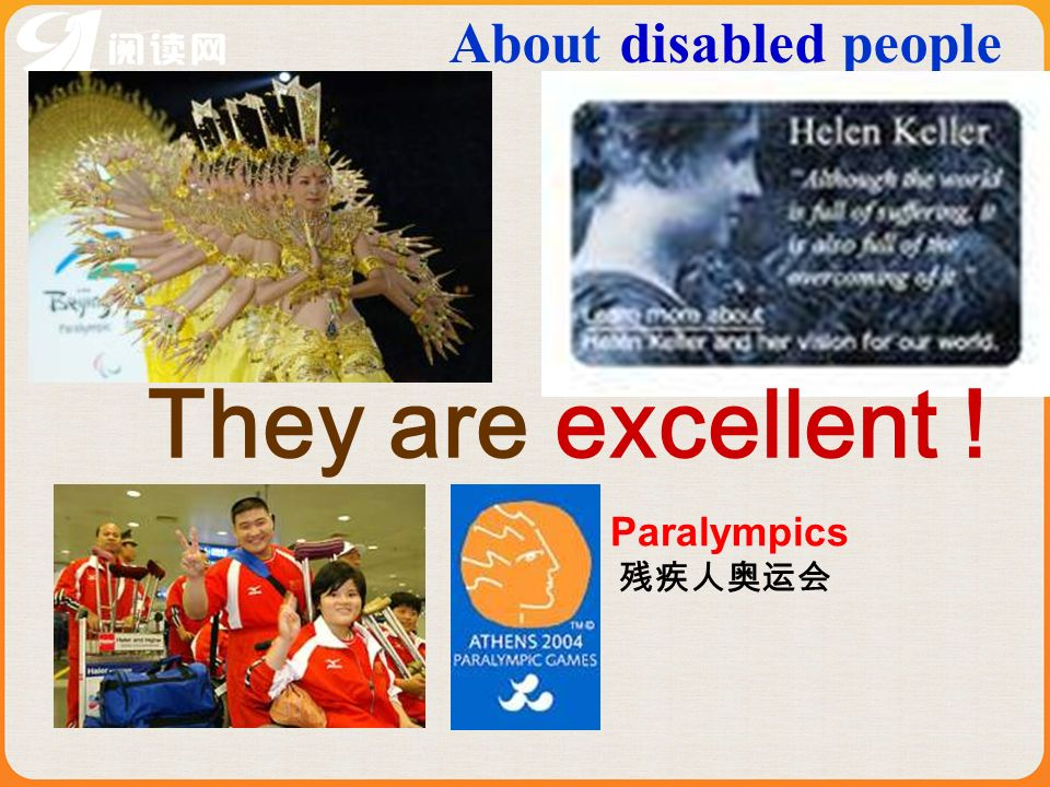 About disabled people They are excellent ! Paralympics