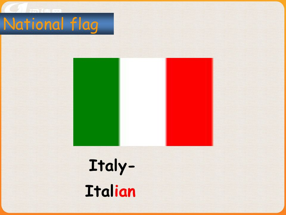 Italy- National flag Italian