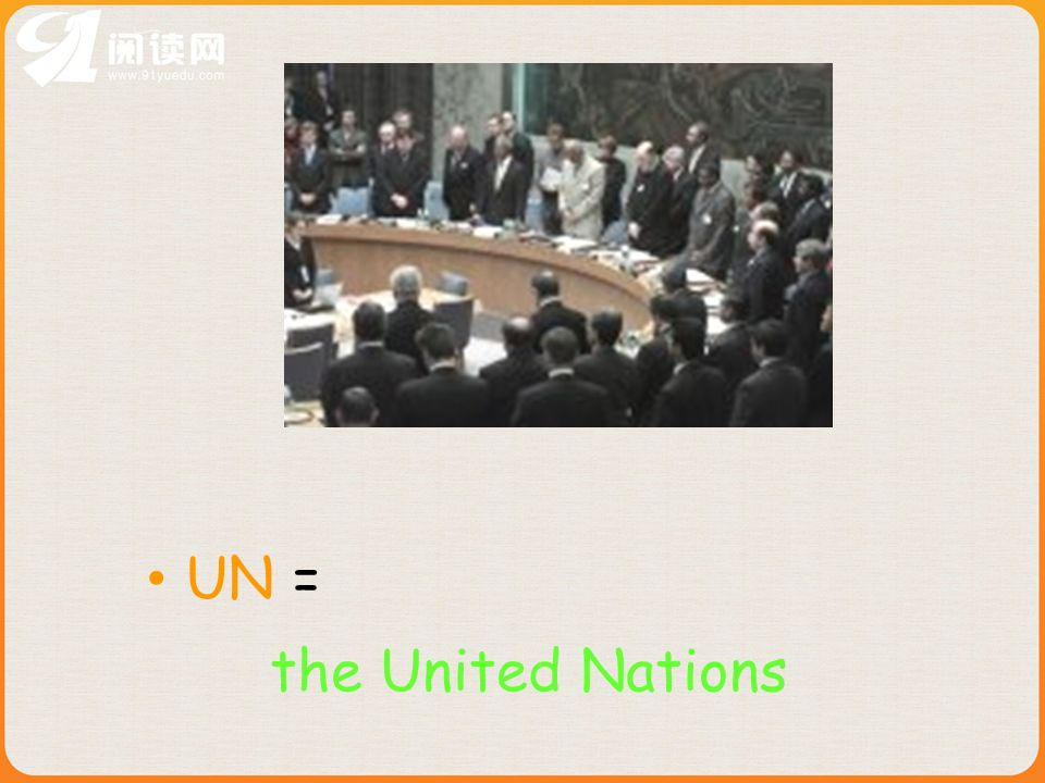UN = the United Nations
