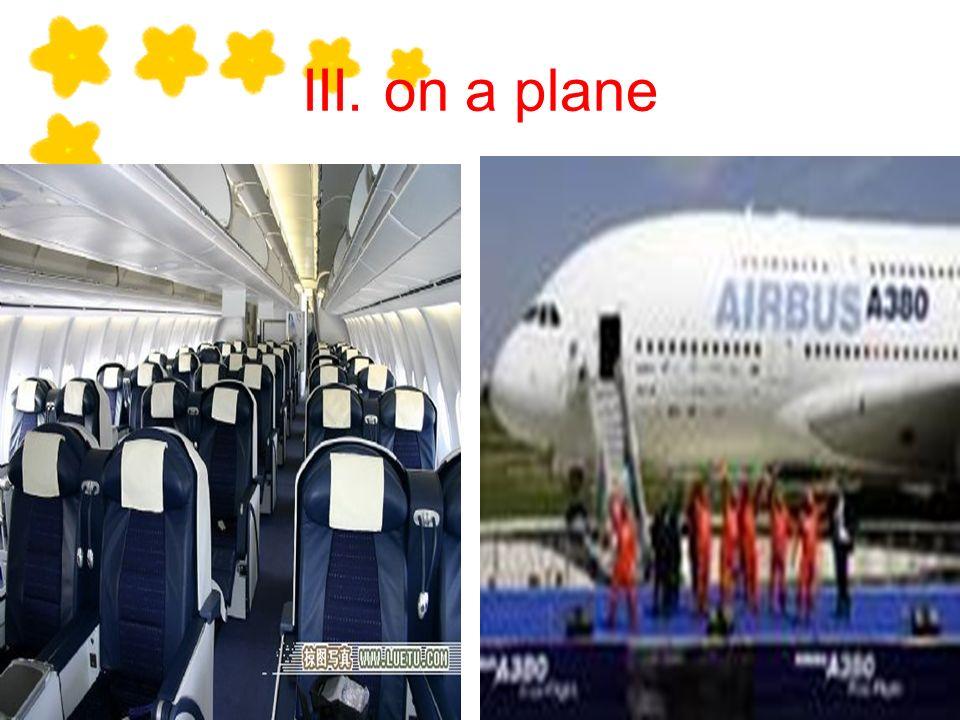 III. on a plane