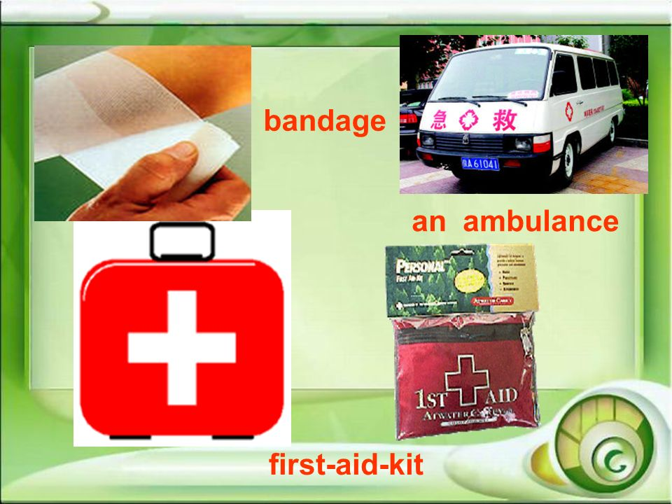 first-aid-kit bandage an ambulance