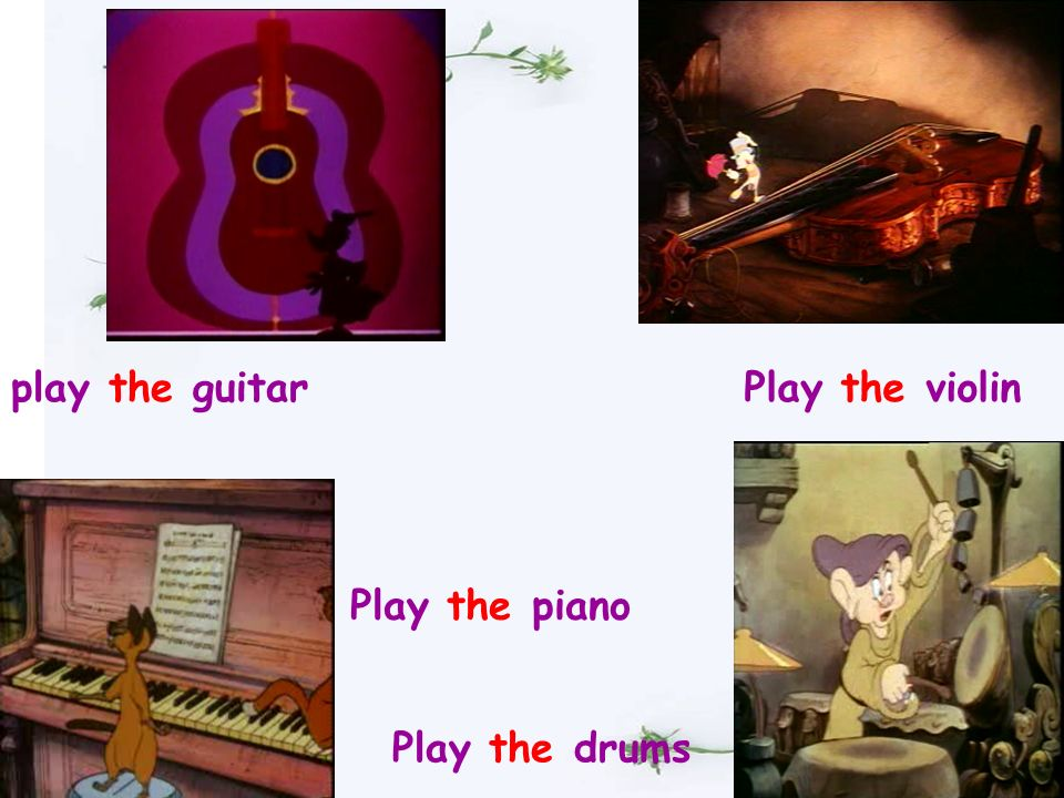 guitar piano violin drums