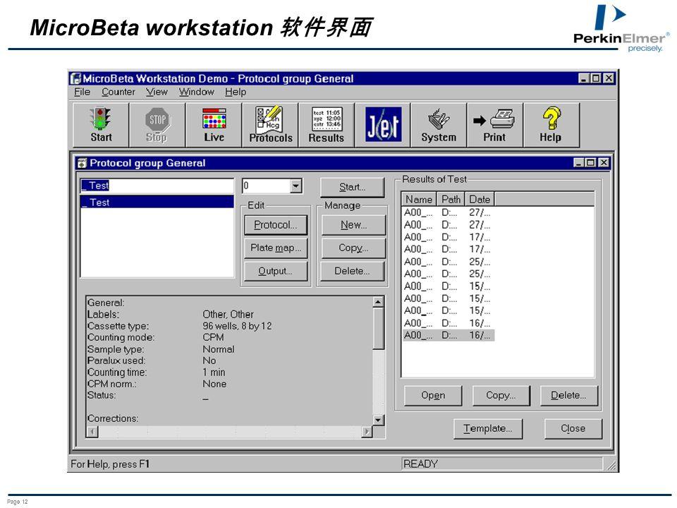 Page 12 MicroBeta workstation