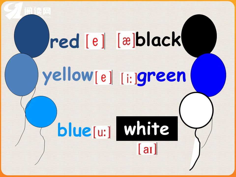 red yellow blue black green white