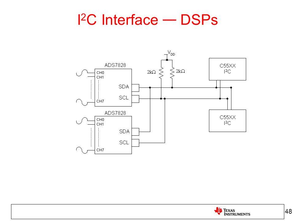 I 2 C Interface DSPs 48
