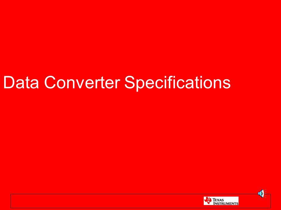 Data Converter Specifications