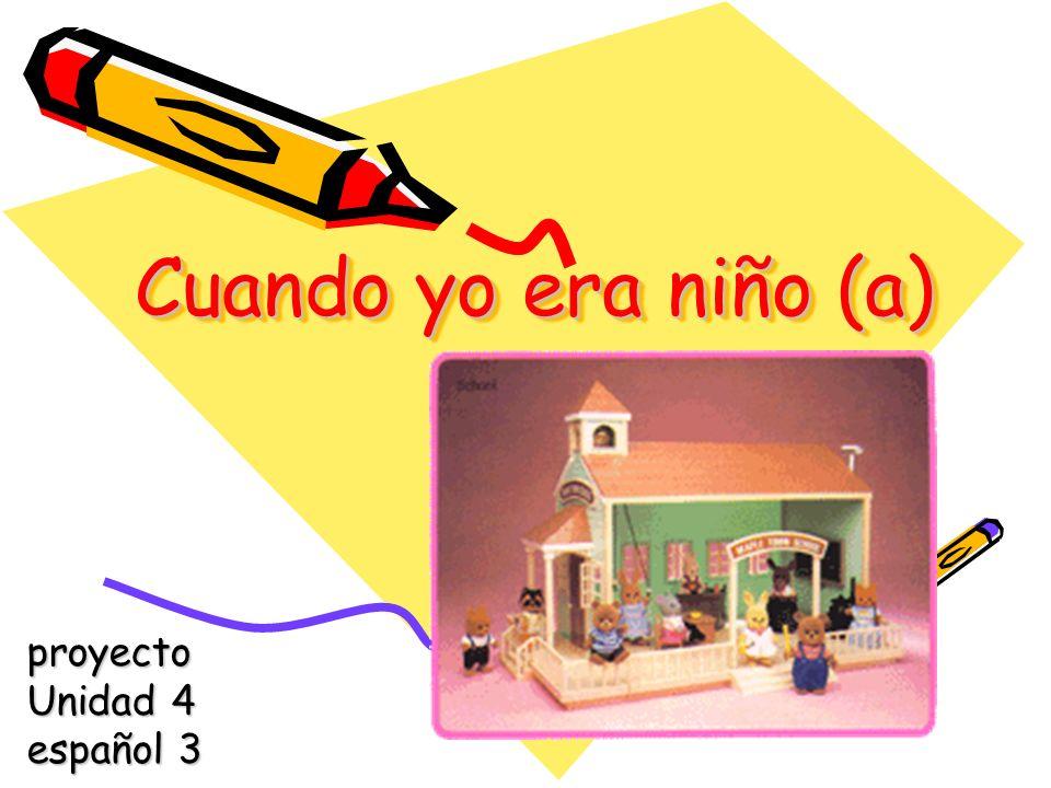 Las reglas (the rules) Create a visual and verbal presentation describing your childhood.