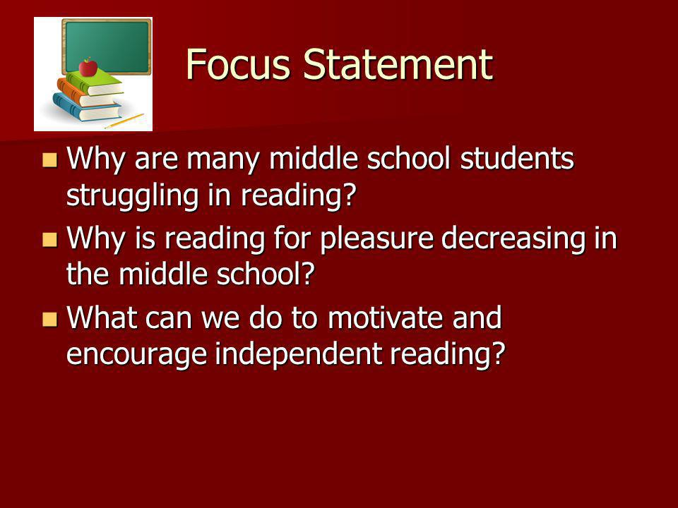 Worthy 2002 When asked what would make reading more appealing, students suggested: more choice selection, more time to read, and more read alouds in class.