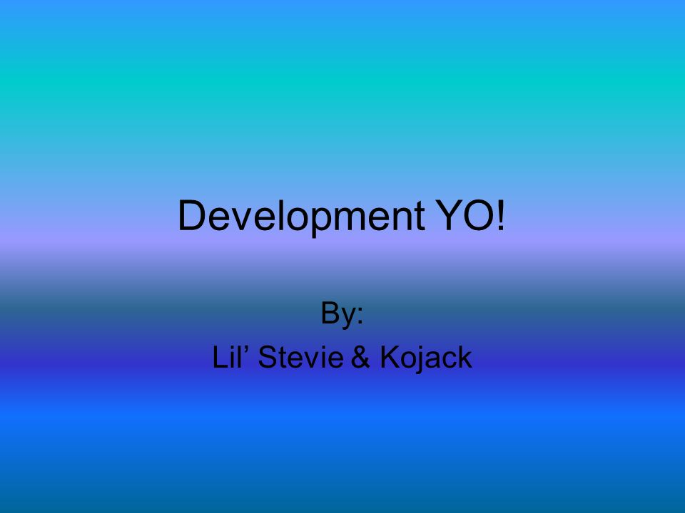 Development YO! By: Lil Stevie & Kojack