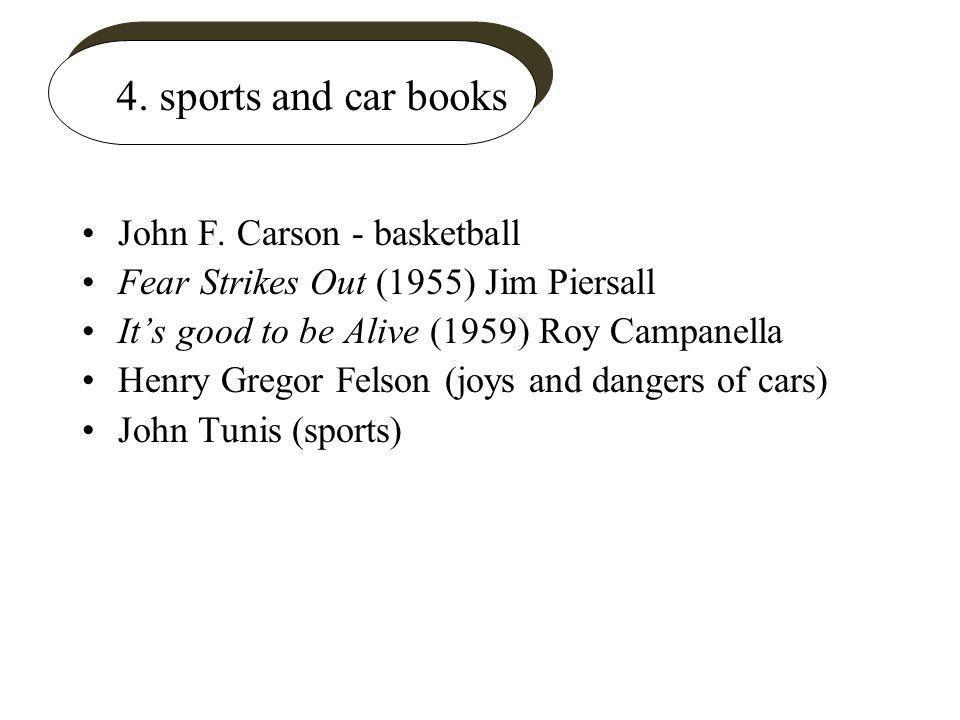 4. sports and car books John F.