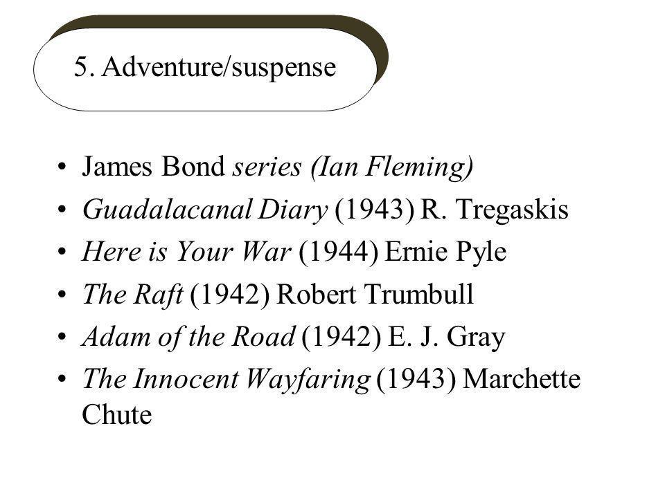 5. Adventure/suspense James Bond series (Ian Fleming) Guadalacanal Diary (1943) R.