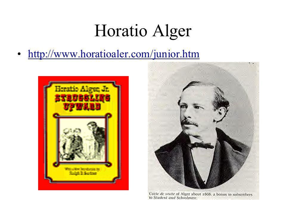 Horatio Alger http://www.horatioaler.com/junior.htm