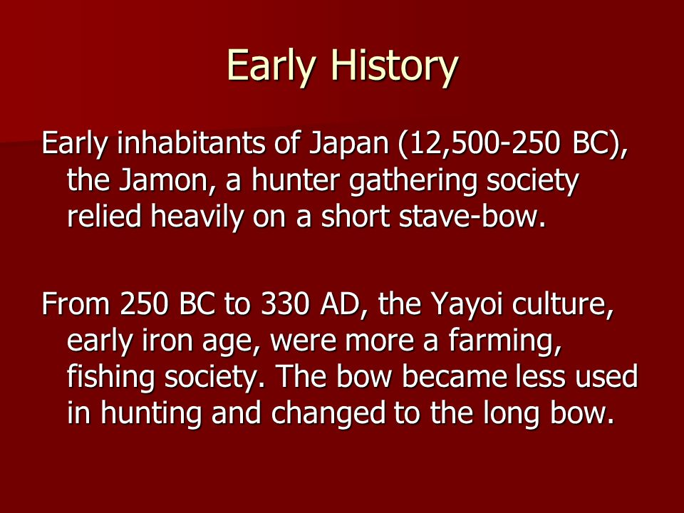 Ceremonial Archery In the 4 th to 9 th centuries, Japan was strongly influenced by China.