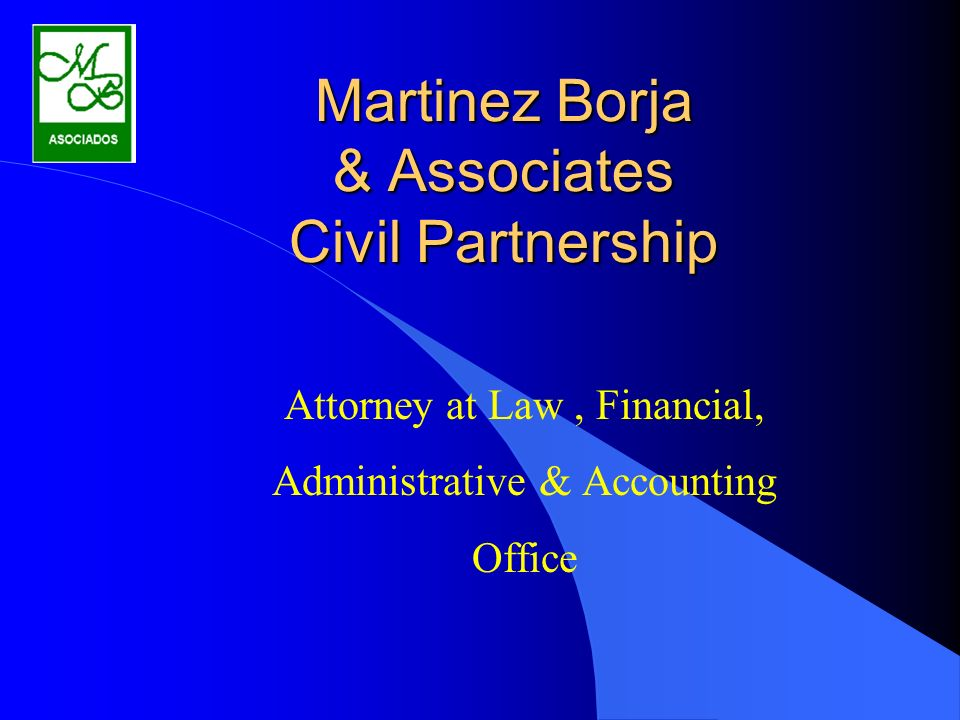 Martinez Borja & Associates Civil Partnership Attorney at Law, Financial, Administrative & Accounting Office
