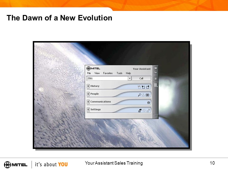 Your Assistant Sales Training10 The Dawn of a New Evolution