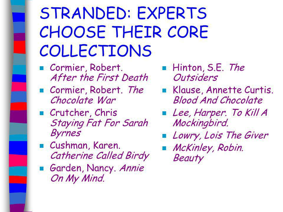 STRANDED: EXPERTS CHOOSE THEIR CORE COLLECTIONS n Adams, Douglas.