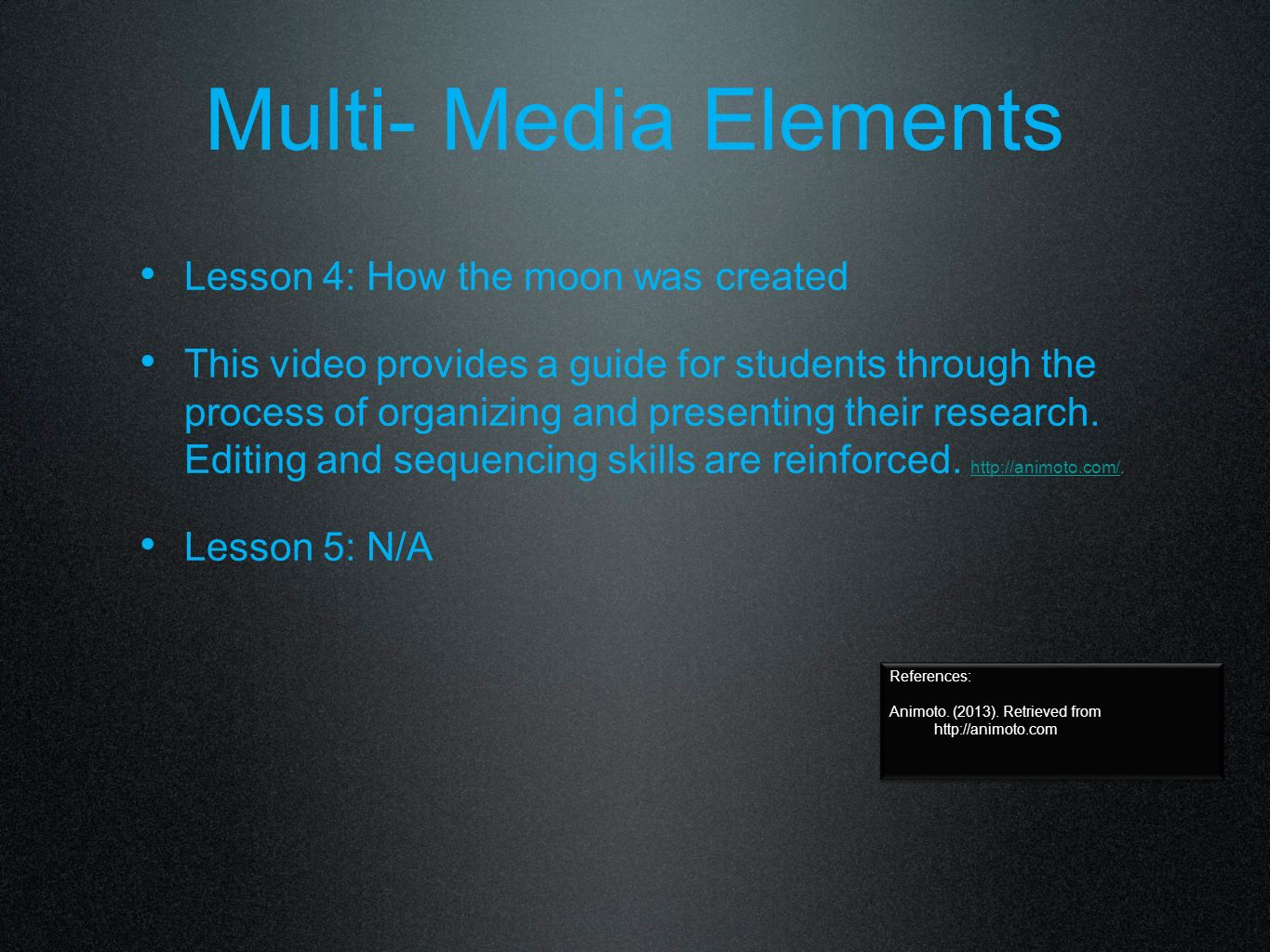 Multi-Media Elements Lesson 3: The Seasons & Climates of the Northern and Southern Hemispheres This blog has been created by students in the classroom.
