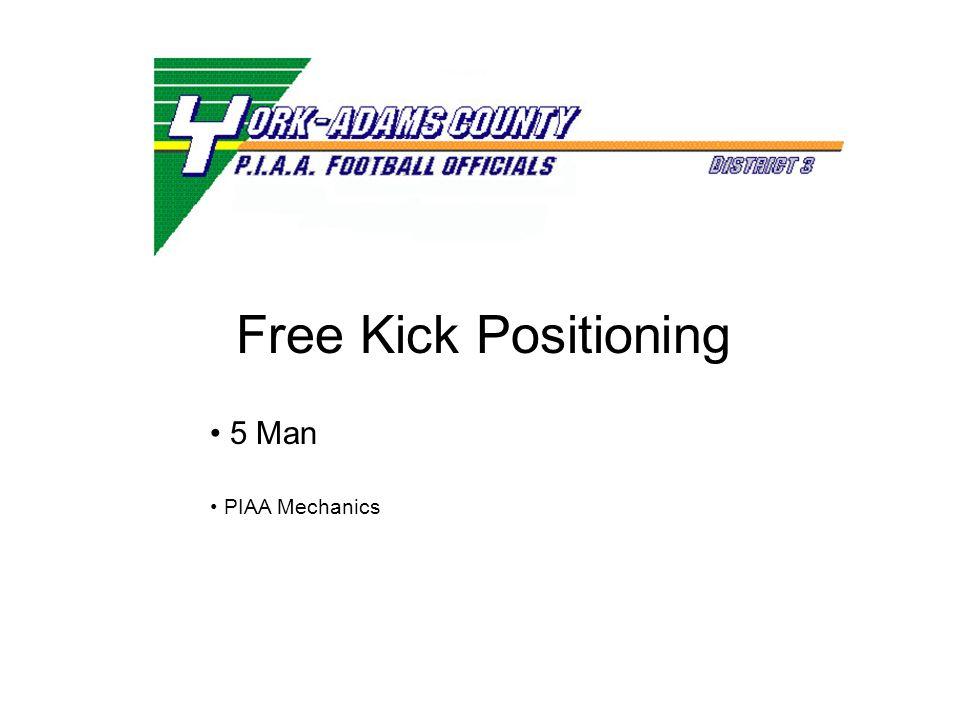 Free Kick Positioning 5 Man PIAA Mechanics