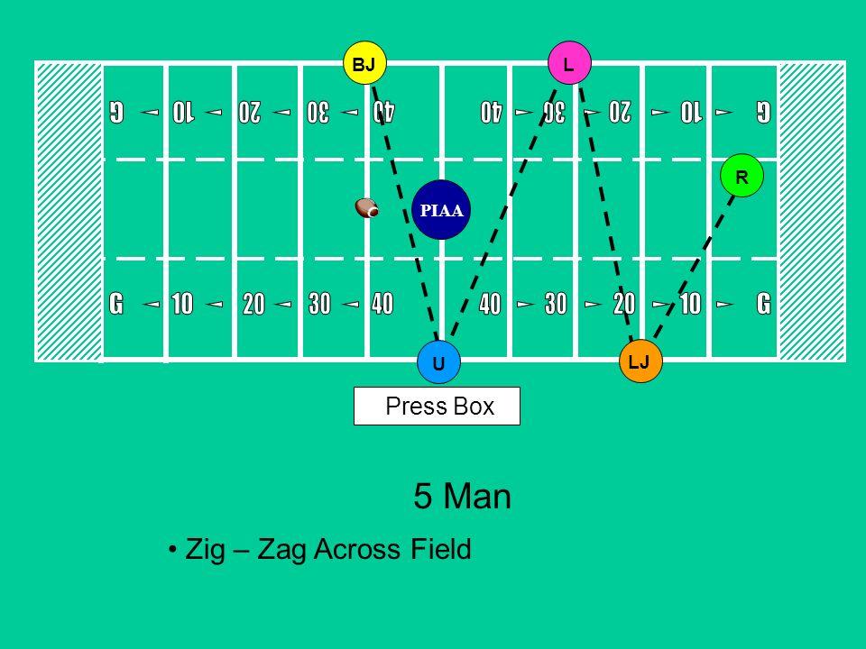 5 Man Zig – Zag Across Field Press Box BJULLJR PIAA