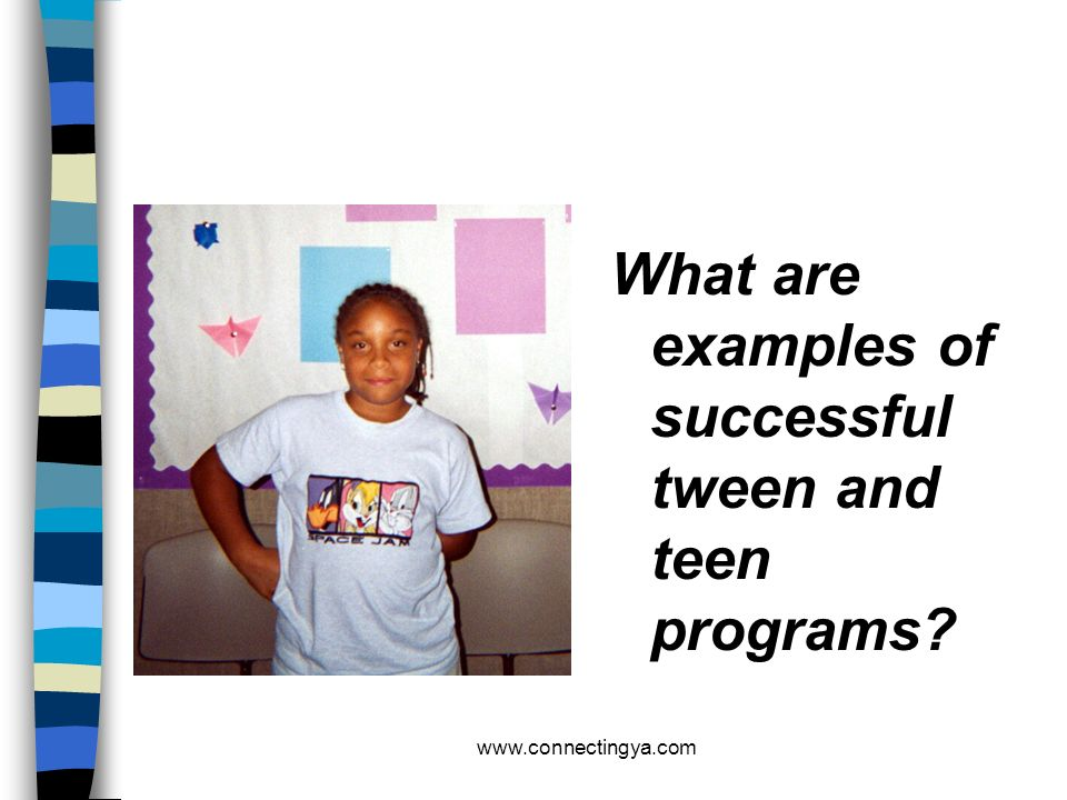 www.connectingya.com 5W 1H n WHAT IS THE PROGRAM: (title / description / objectives) n WHO IS THE AUDIENCE: (age, gender, target schools) n WHEN/WHERE