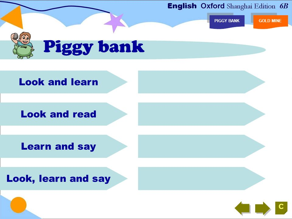 Consolidation Recite Look and read.
