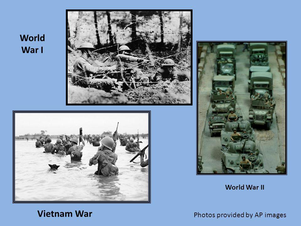 World War II World War I Vietnam War Photos provided by AP images