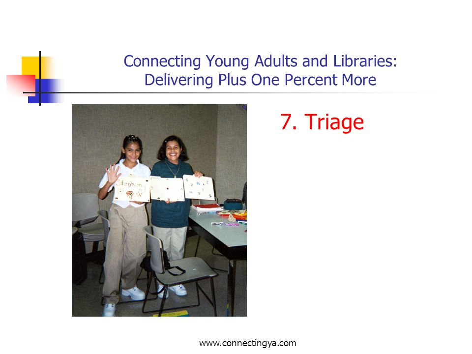 Connecting Young Adults and Libraries: Delivering Plus One Percent More 6.