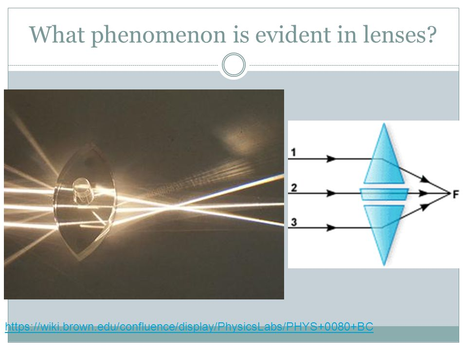 What phenomenon is evident in lenses.