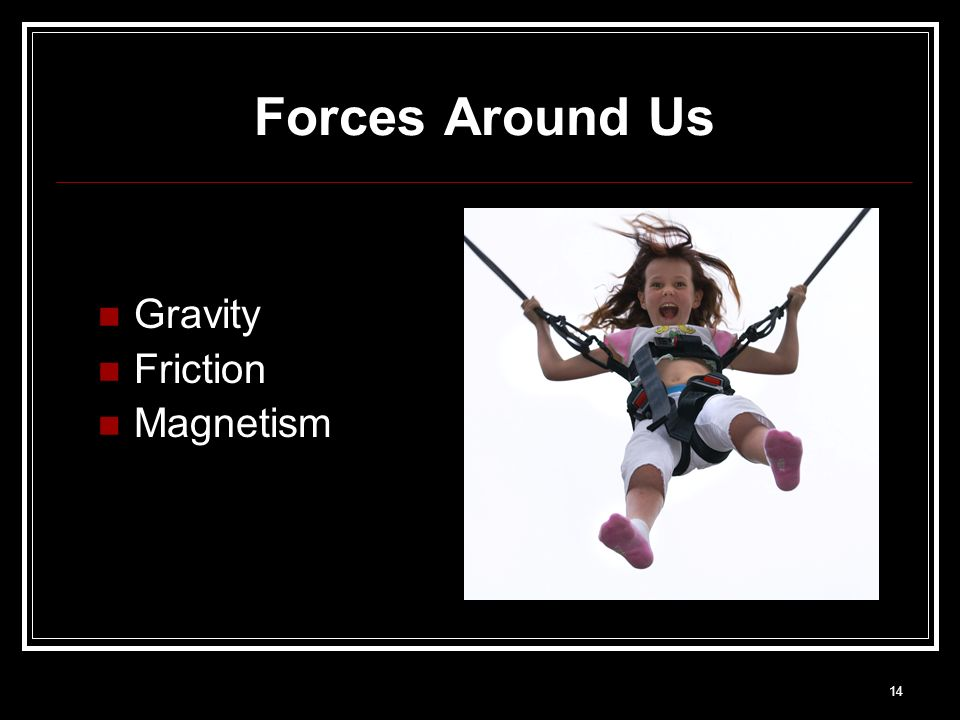 14 Forces Around Us Gravity Friction Magnetism