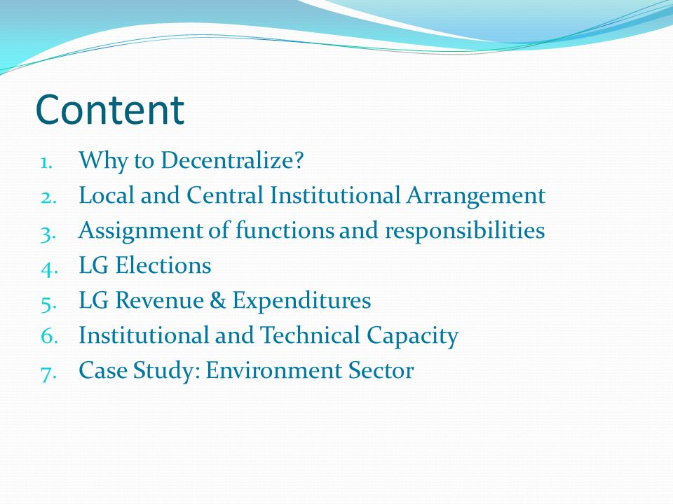1.Why to decentralize.