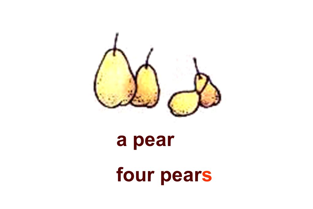 a pear four pears