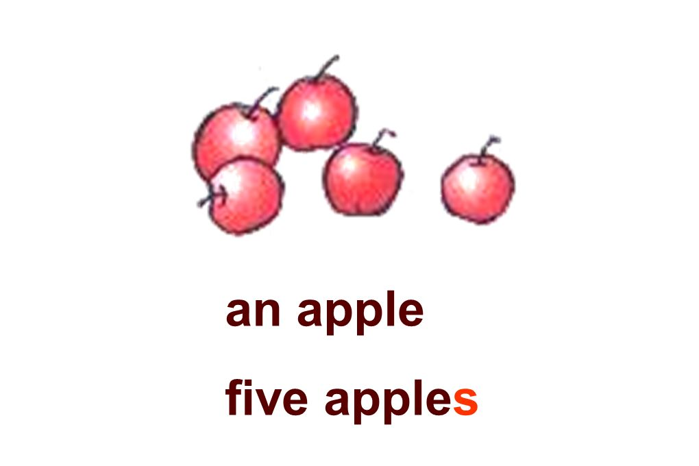 an apple five apples
