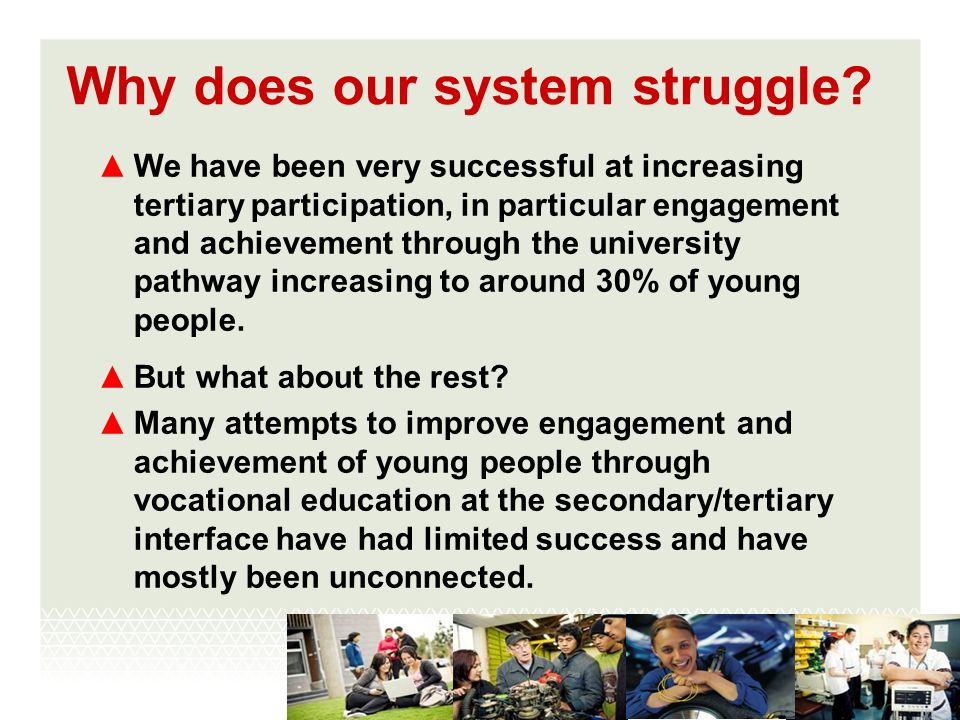 Why does our system struggle.