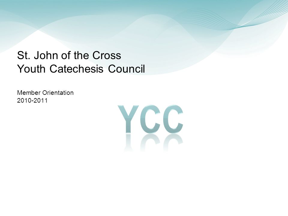 2 YCC New Member Orientation – Table of Contents YC Council Overview Mission Constitution – Responsibilities By-Laws Goals and Accomplishments 2007-2010 Accomplishments 2010-2011 Potential Areas of Focus 2010-2011 Events YC Program Overview YC Class Schedule YC Council Members 2010-2011 YC Council Members YC Council Directory