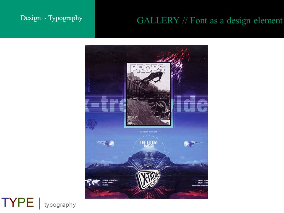 Design ~ Typography TYPE | typography GALLERY // Font as a design element