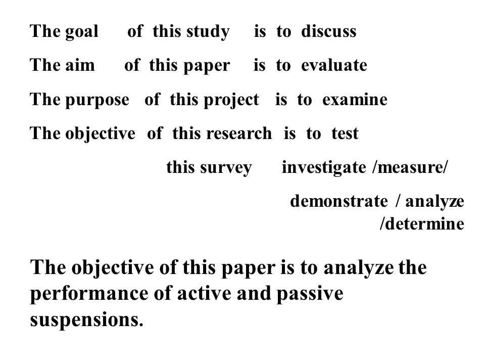 The objective of this paper is to analyze the performance of active and passive suspensions.