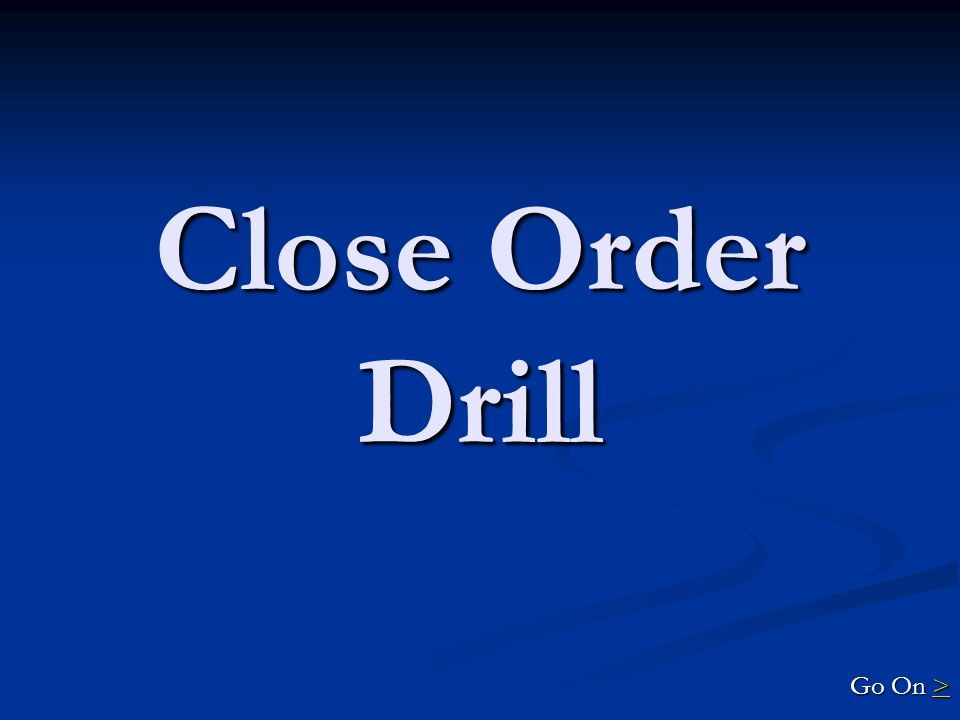 Close Order Drill 500 Explain the commands given to take the platoon in both obliques, mark- time and forward again, and then given the commands to take the platoon in both flank and then halt and dismiss the platoon.