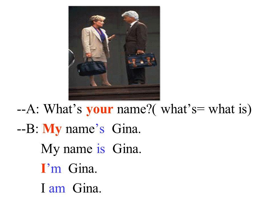 Hello, ____Alan. _______your name? Hi, Alan! _________is Gina. Im Whats My name Nice to meet you! Nice to meet you, too!