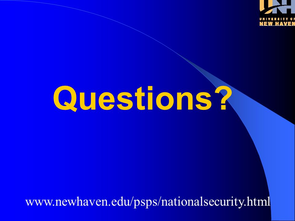 www.newhaven.edu/psps/nationalsecurity.html Standards
